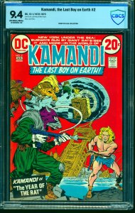 Kamandi, The Last Boy on Earth #2 CBCS NM 9.4 Off White to White DC Comics