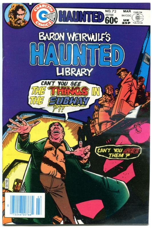 HAUNTED #72, NM-, Things in Subway, Horror, 1971 1984, more Charlton in store