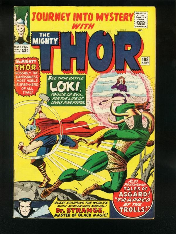 JOURNEY INTO MYSTERY #108 1964-MIGHTY THOR-HIGH GRADE VF-