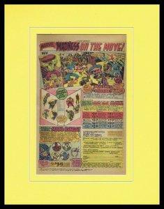 1976 Marvel Comics Mood Rings / Hulk Framed 11x14 ORIGINAL Vintage Advertisement