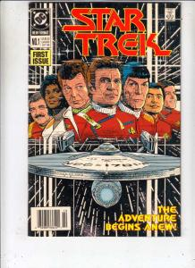 Star Trek #1 (Oct-89) NM/NM- High-Grade Captain Kirk, Mr Spock, Bones, Scotty