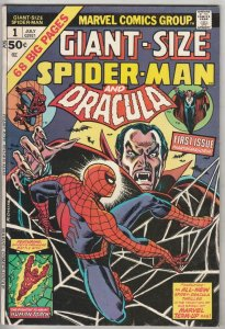 Giant-Size Spider-Man and Dracula #1 (Jul-74) VF+ High-Grade Spider-Man