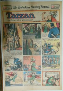 Tarzan Sunday Page #548 Burne Hogarth from 9/7/1941 Very Rare ! Full Page Size