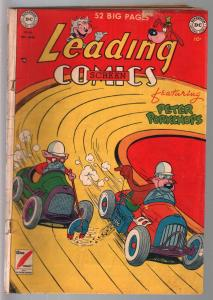 Leading #46 1950-DC-Peter Porkcops-Sheldon Mayer art-race car-VG
