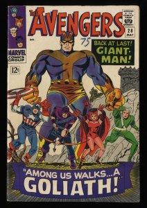 Avengers #28 VG/FN 5.0 White Pages 1st Collector! Giant Man becomes Goliath!