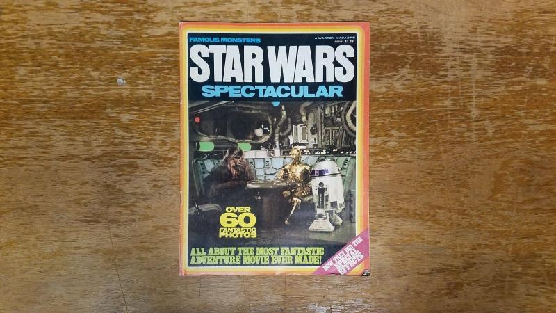 Famous Monsters Star Wars Spectacular Warren Magazine 1977 Vintage BW1
