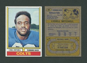 1974 Topps Football / Lydell Mitchell #69 / NM-MT+