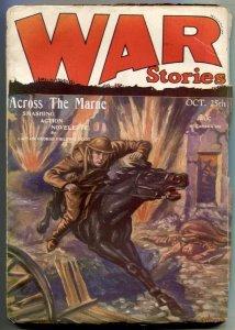 War Stories Pulp October 25 1928- Across The Marne G+