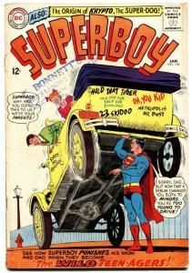 SUPERBOY #126 1965-DC COMICS-ORIGIN OF KRYPTO SUPER DOG g/vg