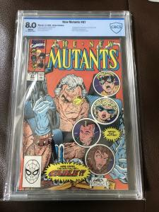 The New Mutants #87 CBCS 8.0, White Pages 1st Appearance Of Cable