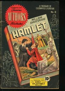 FAMOUS AUTHORS ILLUSTRATED #8-HAMLET-WM SHAKESPEARE VG