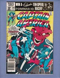Captain America #263 FN Red Skull Appearance Marvel 1981