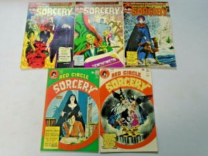 Red Circle Sorcery Comic Lot Run #3-11 9 Different (1973-1975)