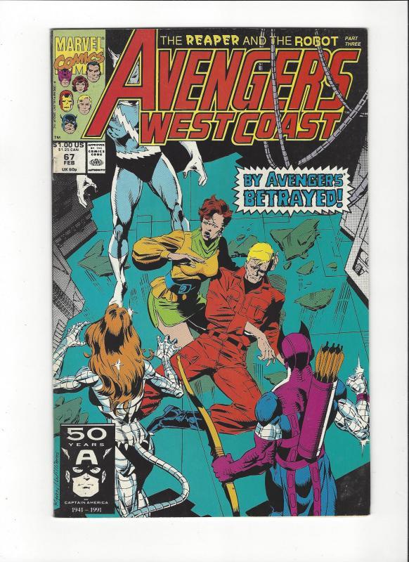 Avengers West Coast #67 The Reaper NM