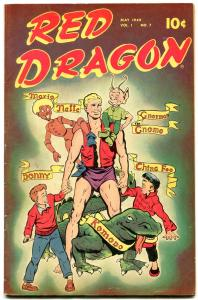 Red Dragon #7 1949- FINAL ISSUE- Ching Foo- Maneely- Bob Powell FN-