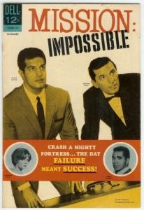 MISSION IMPOSSIBLE (1967-1969 DELL) 3 VG- PETER LUPUS/ COMICS BOOK