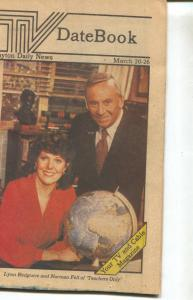 TV Date Book-Lynn Redgrave-Norman Fell-Dayton Daily News-March-1983