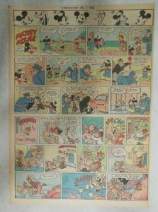 Mickey Mouse Sunday Page by Walt Disney from 7/1/1945 Tabloid Page Size