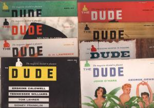 Dude-Vintage Men's Magazine-High Grade Lot of 16 1950's-exploitation-FN/VF