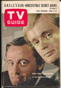 TV Guide 4/17/1965-Man From Uncle-Philadelphia Edition-G