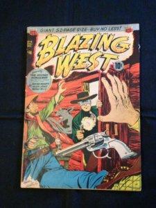 Blazing West, #14, Nov. 1950, 1st App. Of The Hooded Horseman, AGC