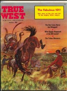 True West 9/1960-Taylor Vaughton cover art-OK Corral-Wyatt Earp-VG/FN