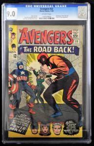 Avengers #22 (Marvel, 1965) CGC 9.0