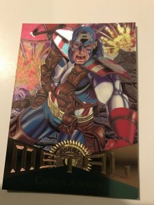 CAPTAIN AMERICA #71 card : Marvel Metal 1995 Fleer Chromium; NM/M Avengers, base