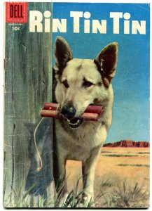 Rin Tin Tin #12 1956-Dell-photo cover- German Shepherd- fair