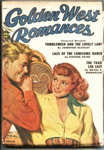 GOLDEN WEST ROMANCES #3-FEB 1950-JOHNSTON McCULLEY PULP STORY-THRILLING PUBS