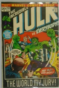 The Incredible Hulk #153 - 4.0 VG - 1972