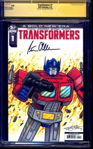 Transformers #1 BLANK CGC SS 9.8 G1 Optimus Prime SKETCH signed Peter Cullen
