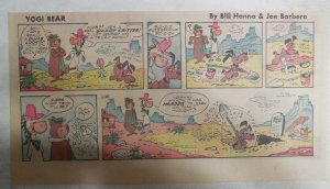 Yogi Bear Sunday Page by Hanna-Barbera from 1/28/1973 Third Page Size !