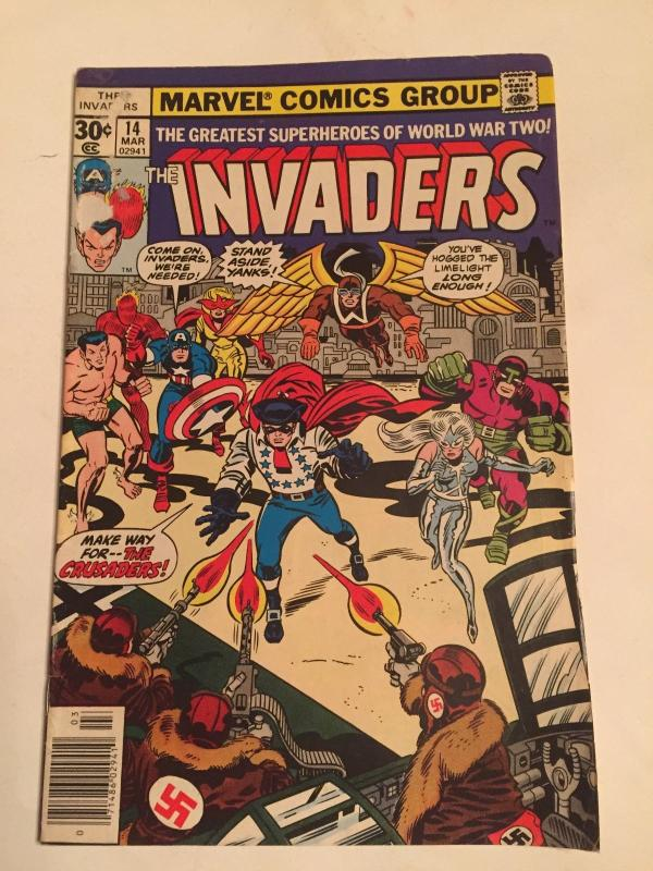 THE INVADERS V1 #14  1977    REPRINTS CAPTAIN AMERICA