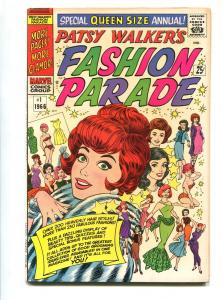 PATSY WALKER'S FASHION PARADE #1 1965-MARVEL-F/VF