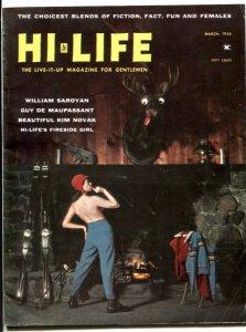 Hi-Life Magazine #1 March 1958- Kim Novak- William Saroyan