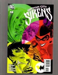Gotham City Sirens # 14 NM 1st Print DC Comic Book Harley Quinn Poison Ivy SM19