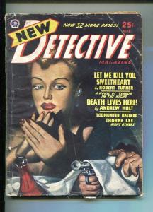NEW DETECTIVE-MAR 1947-HARD BOILED PULP FICTION-TURNER-MYSTERY & CRIME-vg