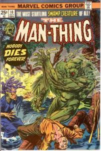 MAN THING (1974) 10 VF-NM Ploog art Oct. 1974 COMICS BOOK