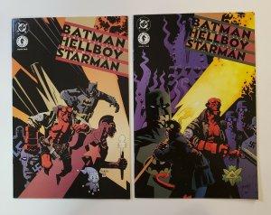 Batman Hellboy Starman #1-2 Complete Set VF/NM DC Dark Horse Comics 1999