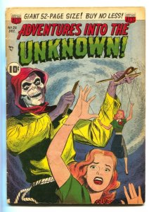 ADVENTURES INTO THE UNKNOWN #26-comic book WEREWOLF STORY-PRE-CODE HORROR vg-