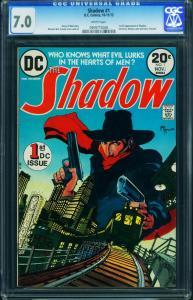 The Shadow #1 CGC 7.0-1973- DC Comics- Pulp Hero Kaluta 0959775008