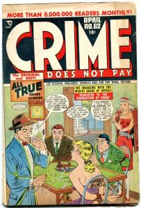 CRIME DOES NOT PAY #62-SWEATING COVER-BILLY THE KID VG