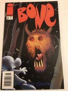 Bone #5 : Image Comics 5/96 NM-; Newsstand Variant, Jeff Smith