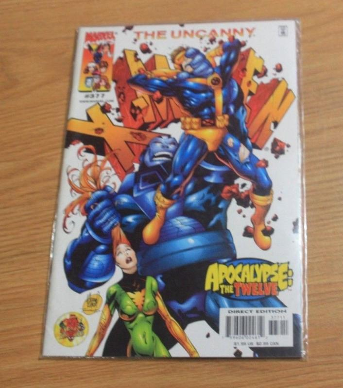 UNCANNY X-MEN #377 (Feb 2000, Marvel) APOCALYPE THE TWELVE CABLE AOA