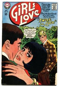 GIRLS' LOVE STORIES #130-DC ROMANCE-TWICE IN LOVE!-NICE vg-
