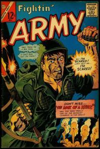 Fightin' Army #69 1966- Charlton War comic- tense grenade cover VG
