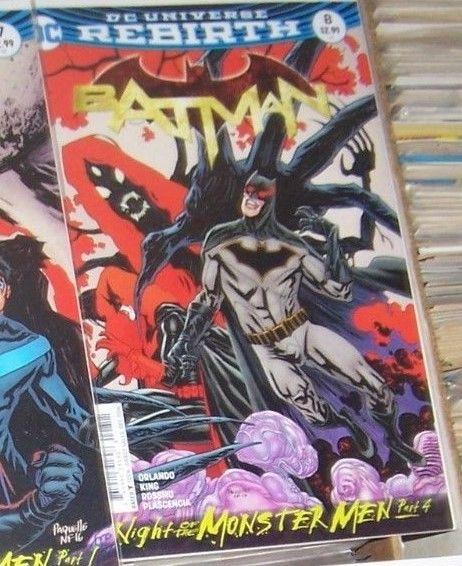 Batman #8  2017 DC UNIVERSE REBIRTH  night of the monster men pt 4 nightwing