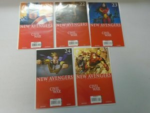 New Avengers run #21-25 Civil War arc 8.0 VF (2006)