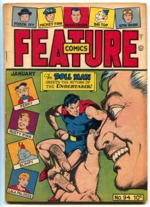 Feature Comics #94 1946- DOLL MAN-undertaker VG+